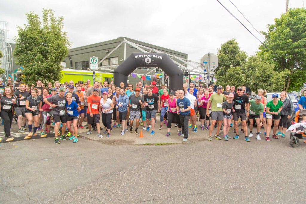 Runners at Base Camp Brewing