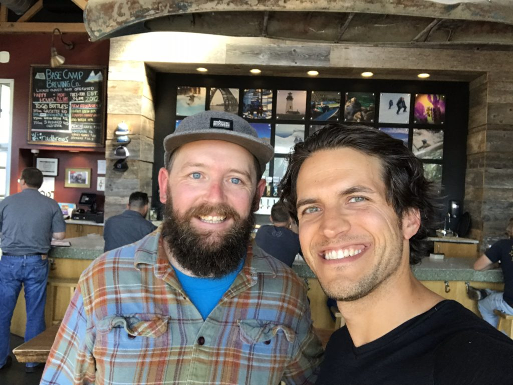 Ross Putnam and Nathan Freeburg from Base Camp Brewing